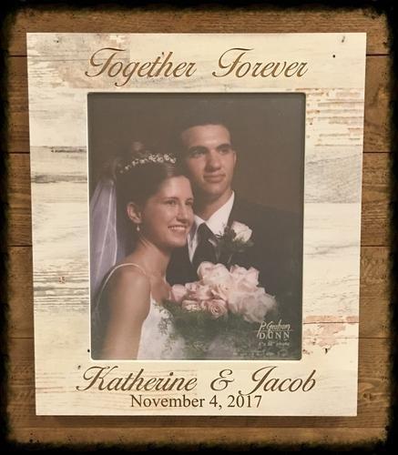 Together Forever engraved photo frame
