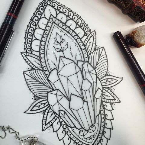 Spiritual crystal tattoo.                                                                                                                                                                                 More