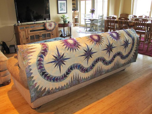 Thistle Pods on the back of the couch by Jackie-Quilts!, via FlickrCanton Village, Flickr, Quilt Work, Couch, Thistles Pods, Jackie Quilt, Village Quilt, Living Room, Compass Quilt