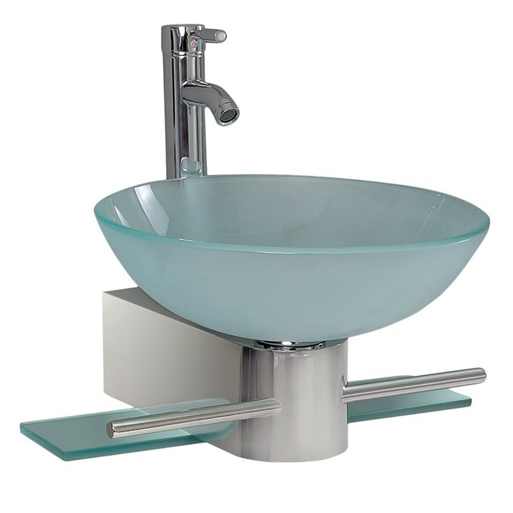 Photo Gallery Website This Cristallino bathroom vanity from Fresca features stainless steel construction and aqua tempered glass This