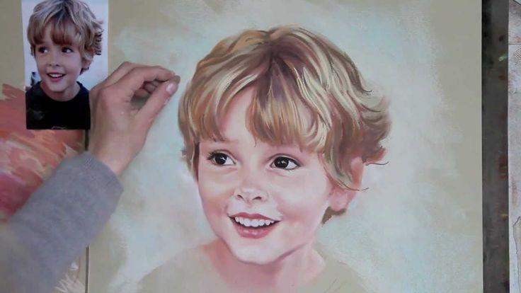 Pastel portrait step by step