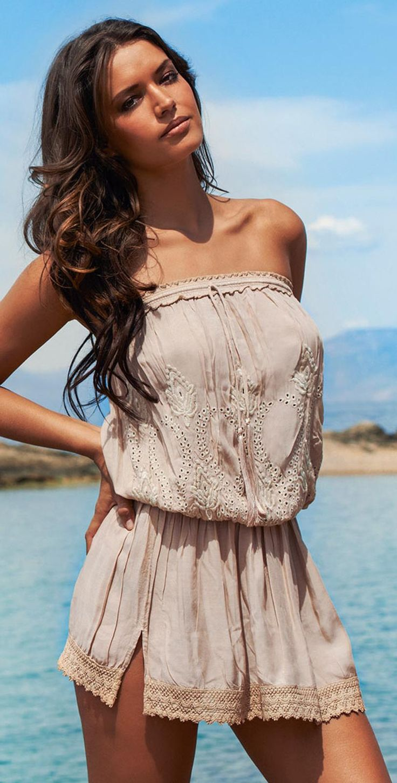Melissa Odabash 2015 Fruley Strapless Short Dress #coverups