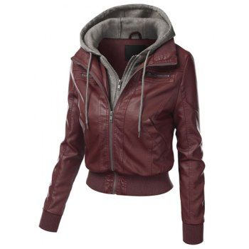 Leather Jackets For Women & Men | Cheap Casual Faux Leather Jacket Online Free Shipping At DressLily.com