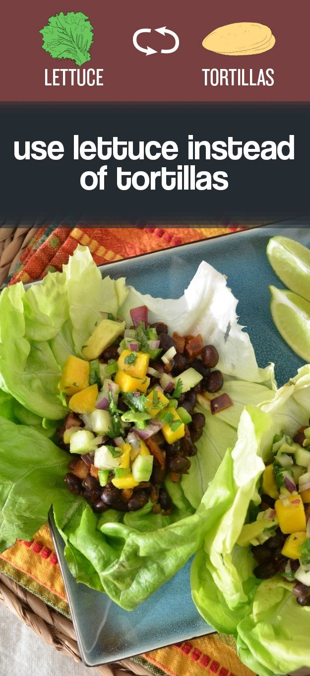 Healthier Choices: Try using lettuce to wrap tacos instead of tortillas. | Buzzfeed