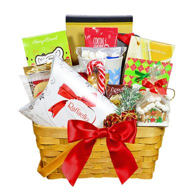Filled with a variety of coffees, teas and scrumptious holiday goodies, this cheerful gift basket will definitely make their holidays brighter!