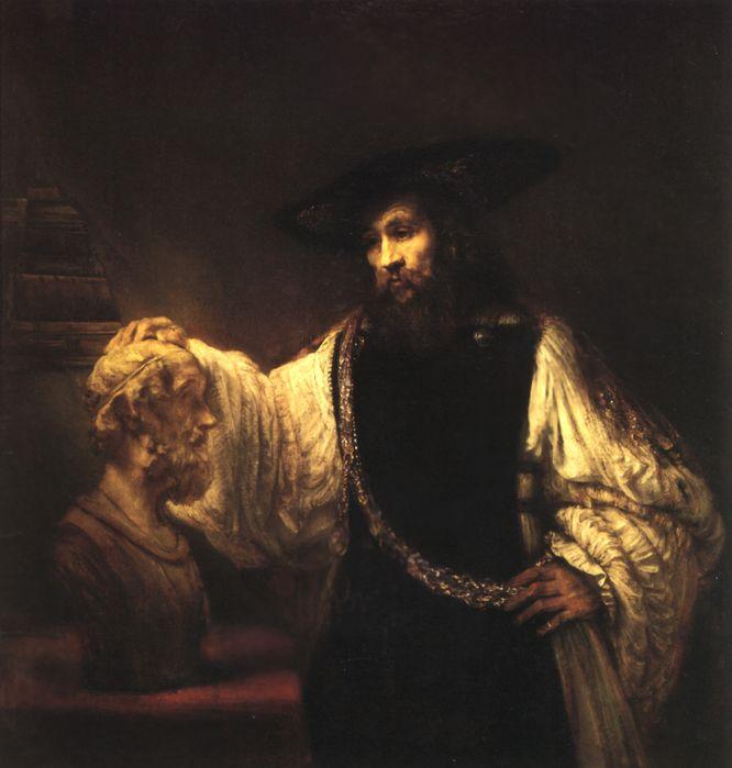 Рембрандт. Аристотель с бюстом Гомера. 1653. Нью-Йорк. Музей Метрополитен.