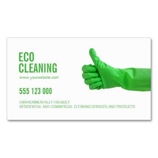 260 best eco green business cards images on pinterest business eco friendly cleaning services business card reheart Images