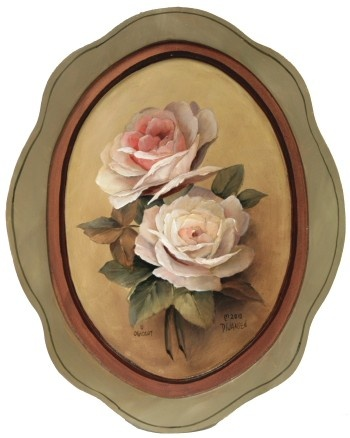 Zorn Palette Roses - by David Jansen. Pattern packet available.