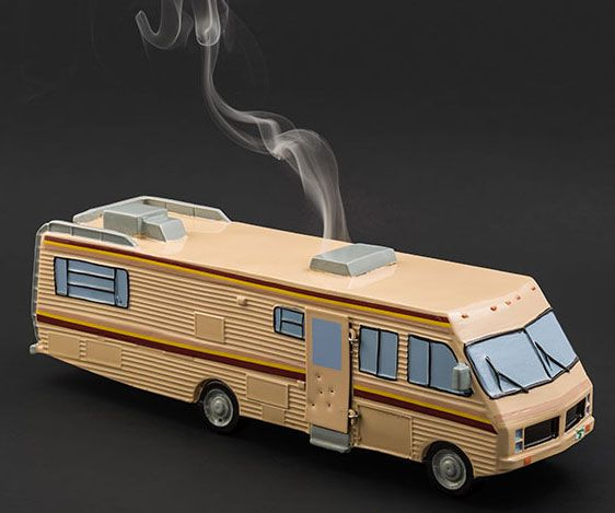 Breaking Bad RV Incense Burner -- Give your home an heady aroma using this Breaking Bad RV incense burner. The exit flips open so that you can effortlessly area the incense indoors while the smoke seeps out over top chimney – shape the confusion that Walt and Jesse are cooking up a fresh batch.