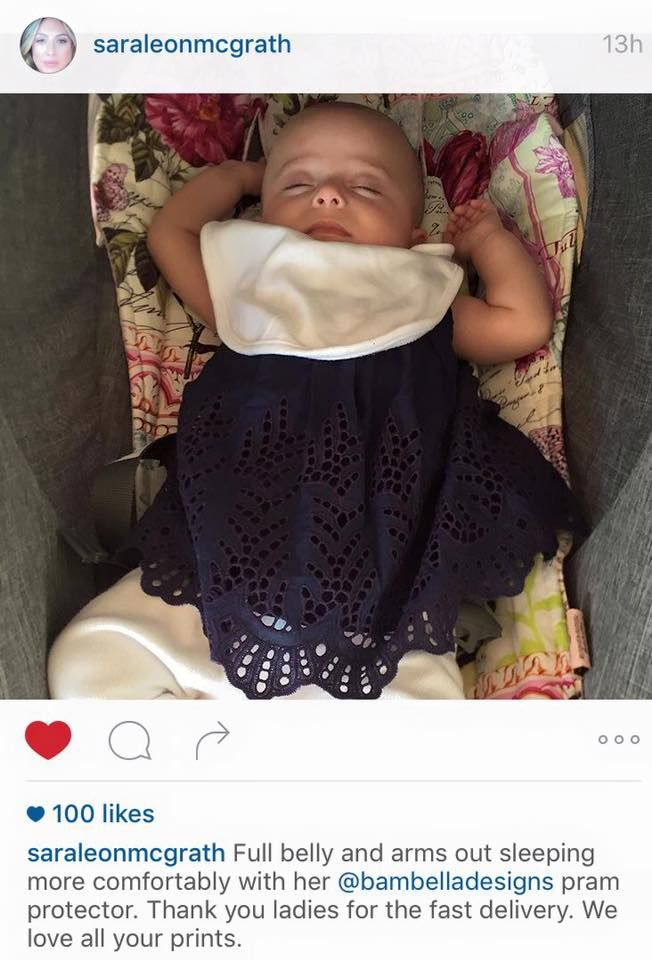 Sara & Glenn McGrath LOVE our Pram Liners