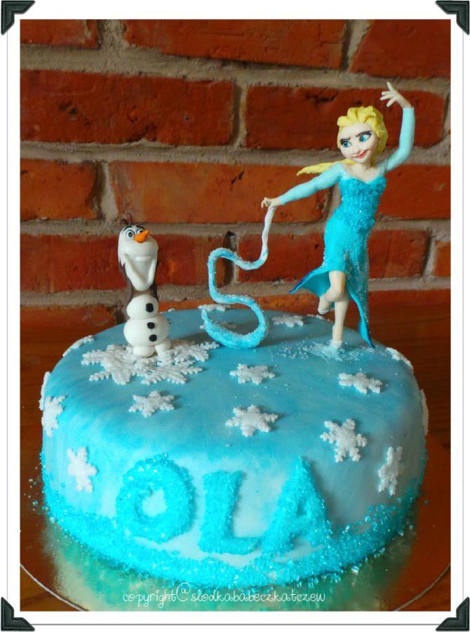 Frozen - Cake by slodkababeczkatczew