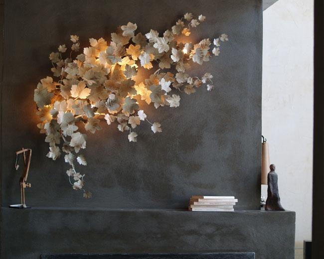 Светильник настеный с листиками. Фабрика Art et Floritude. | Nicecatch