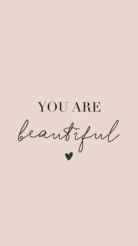Du bist wunderschön Pink und Schwarz – #bist #du …