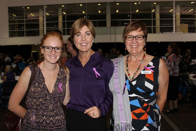 IWD Coordinator Olivia Rothnie-Jones, Board Member Fran Raymond, and Chair of our Canberra Chapter Margot Firth