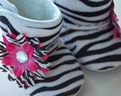 Zebra Hot Pink, Baby Boots