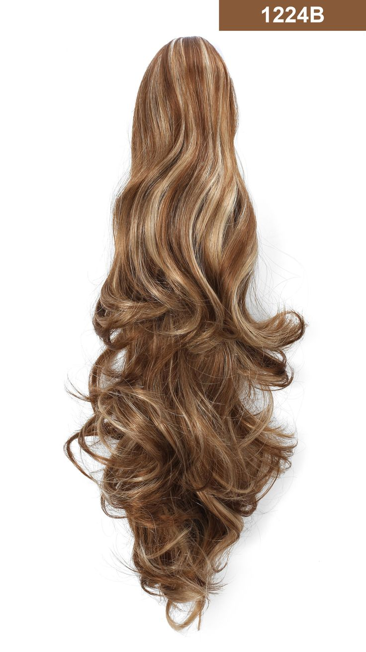 20 curly synthetic clip in claw drawstring ponytail hair