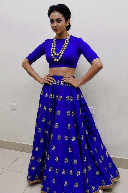 Royal blue !! Saree