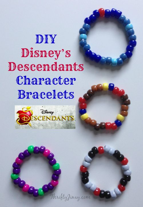 This DIY Disney's Descendants Character Bracelets Craft is a fun way for Descendants fans to make a bracelet representing their favorite villain - or all 4!