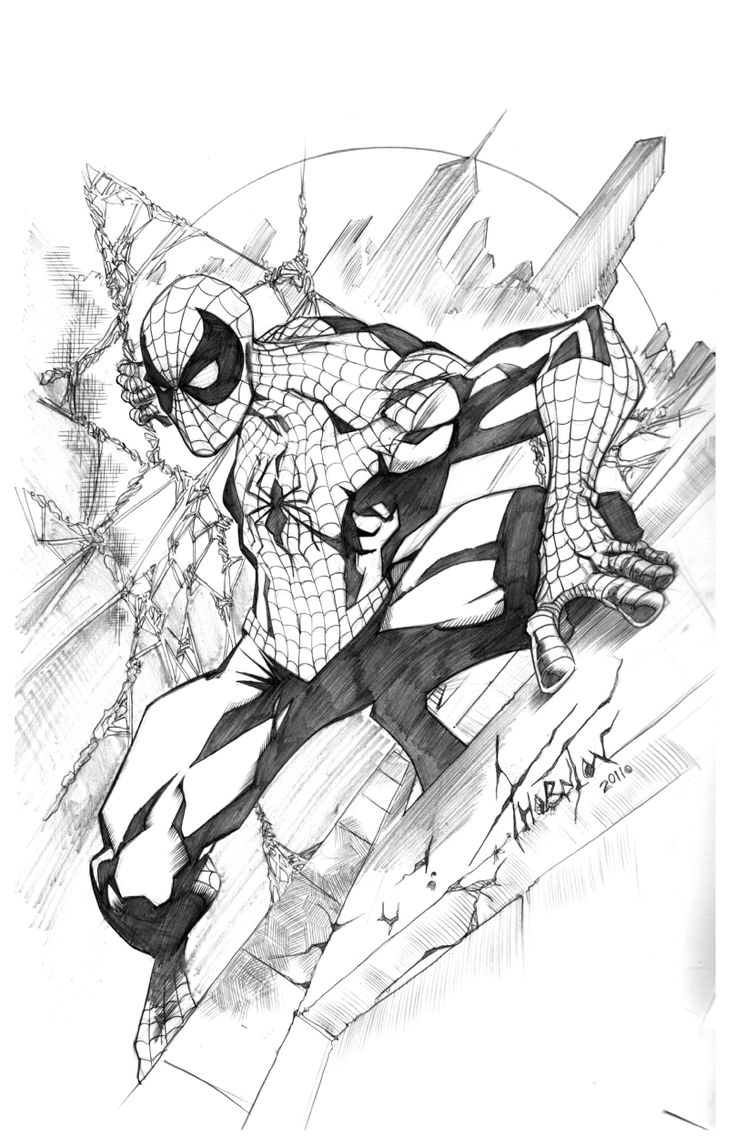 AMAZING SPIDERMAN BY ROD THORNTON Comic Art