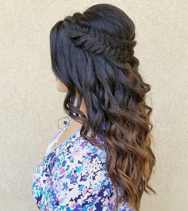 Best 25+ Curly Homecoming Hairstyles Ideas On Pinterest