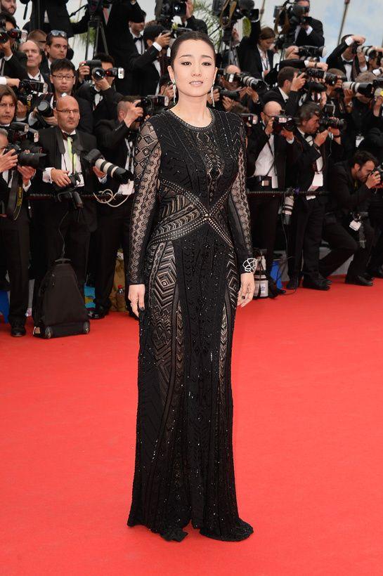 Les plus belles robes du Festival de Cannes  Gong Li, égérie L'Oréal Paris, en robe Roberto Cavalli printemps-été 2014......*_____*