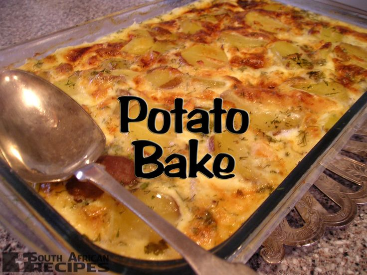 South African Recipes | EASY POTATO BAKE
