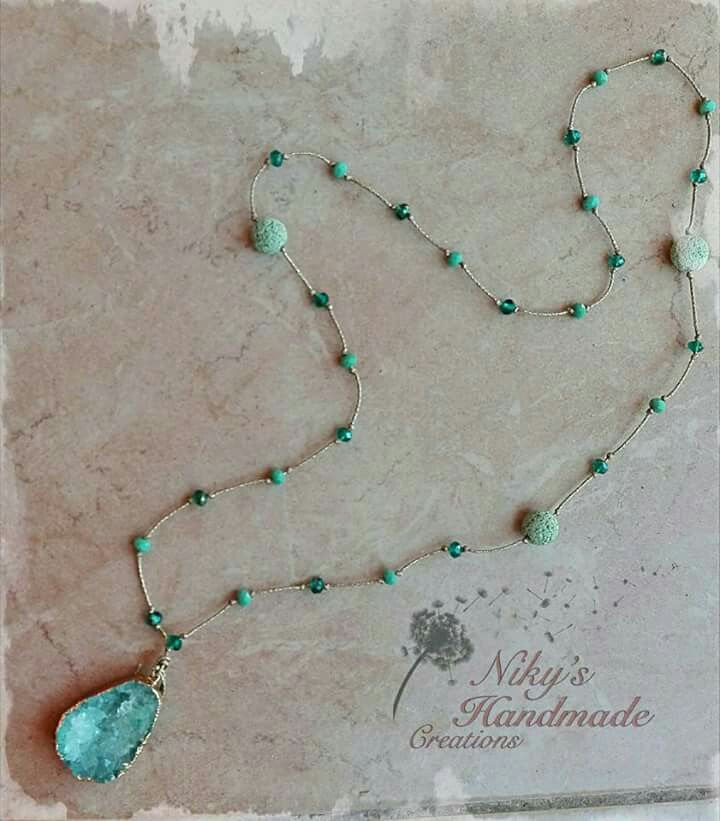 "Necklace Semiprecious stones""Niky's handmade creations"""