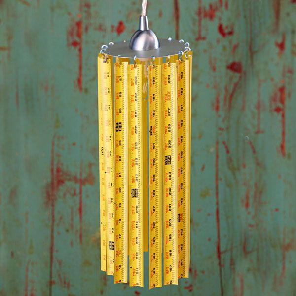 Measuring Tape Pendant Light - Cool Light for a Garage/Workbench area from Lowe's Creative Ideas