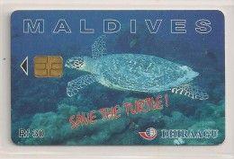 Télécarte - Maldives - Tortue - Save The Turtle -