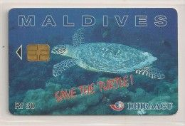 Télécarte - Maldives - Tortue - Save The Turtle -