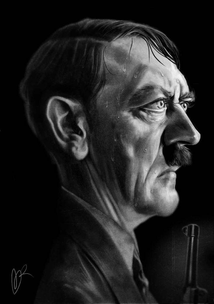 Adolf Hitler Caricature by Marzio Mariani. #Celebrity #Caricatures #Oddonkey