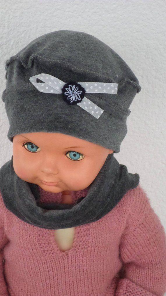 bonnet béret chapeau snood tour du cou  gris bébé  fille  lin eva kids   velours gris collection automne hiver créateur lineva 4a945b133bd