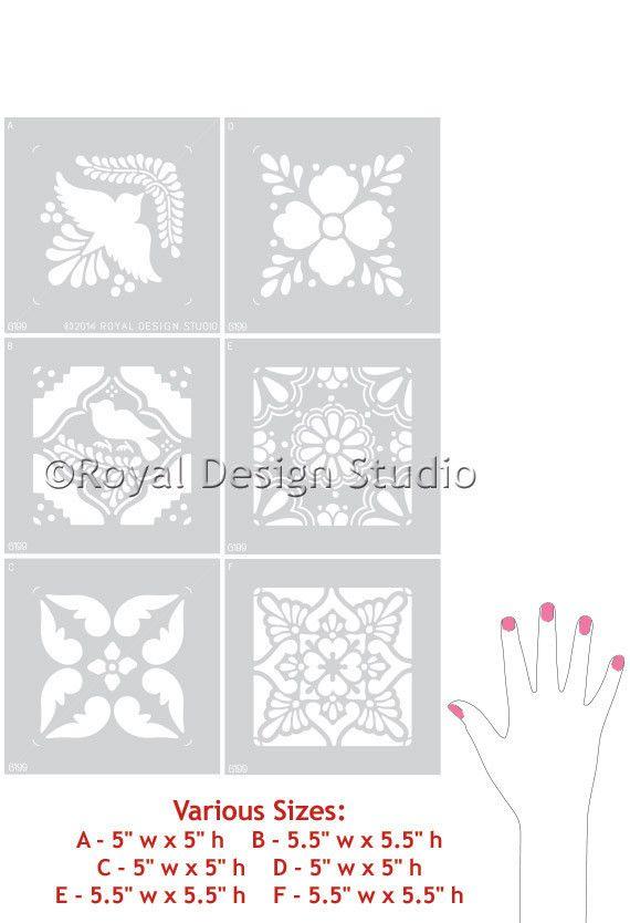 Diy mexicana talavera azulejos muebles plantillas royal - Royal design muebles ...