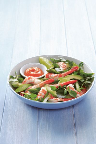 Prawn Salad with Seafood Sauce. Add something special to a simple green salad for a great treat. #Woolworths #recipe #seafood  http://www.woolworths.com.au/wps/wcm/connect/Website/Woolworths/FreshFoodIdeas/Recipes/Recipes-Content/Prawn-salad-with-seafood-sauce