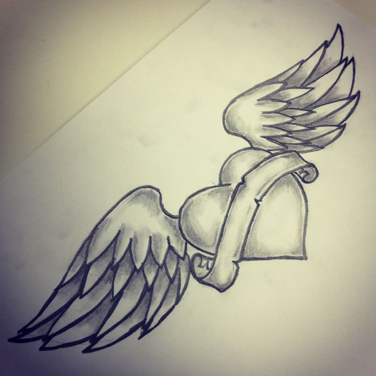 Heart wings tattoo sketch by - Ranz | Tattoos | Pinterest ...