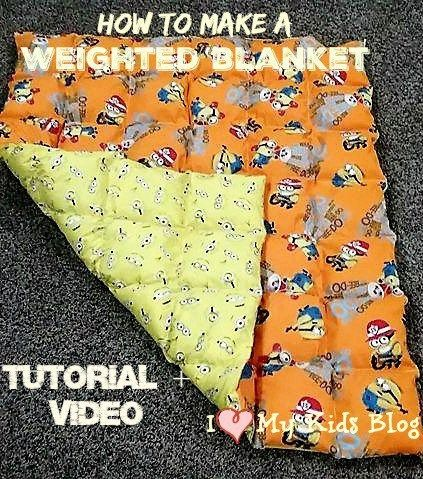 How to make a DIY Weighted blanket: Tutorial + Video - Can help calm people with Autism!