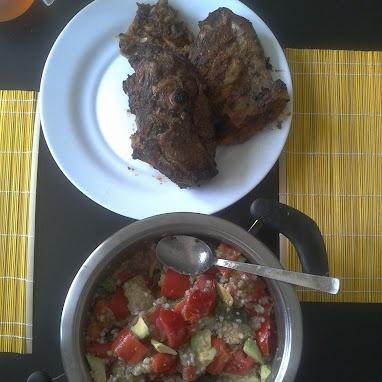 Cordero + Verduras con quinoa