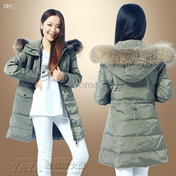 Wholesale-Free Ship 2015 New Winter Duck Down Long Parka S-6XL Women Fashion Real Fur Collar Jacket Ladies Warm Long Coats Plus Size, $78.49 | DHgate.com