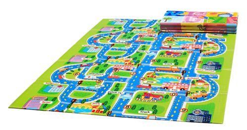 Игровой коврик Mambobaby Город книжка 200х150х1 см - Акушерство.Ru