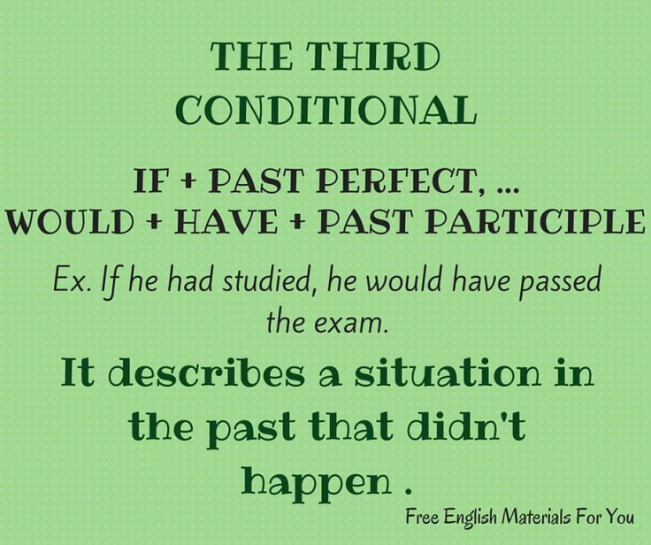 #thirdconditional - #English #Grammar - #FreeEnglishMaterialsForYou #conditionals #learning English