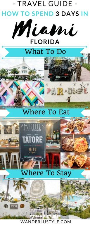 Miami Travel Guide + 3 Day Itinerary! What To Do, Where To Eat, & Where To Stay! - Miami Travel Guide, Miami Travel Tips | Wanderlustyle.com