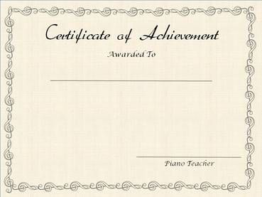 30 best award printable images on pinterest award certificates free printable editable award certificates for piano teachers yadclub Choice Image