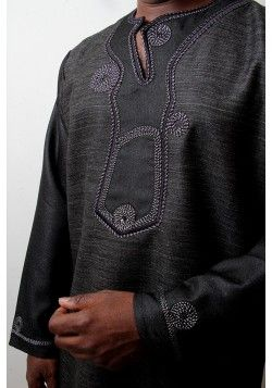 Black Dashiki for weddings meetings and formal occasions
