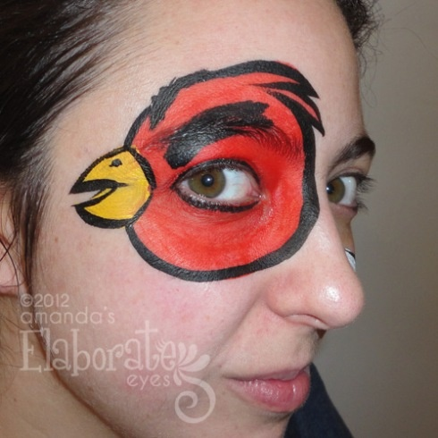 Angry Birds Face Paint | Face Painting Ideas for Kids ...