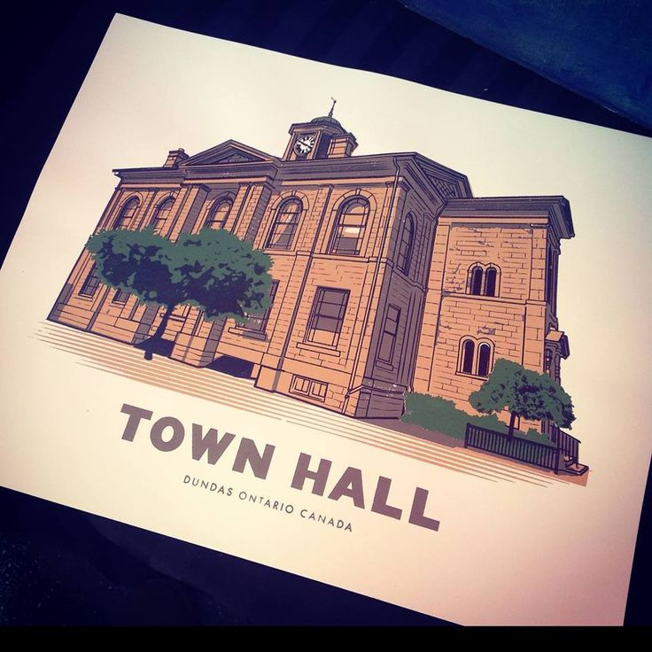 Dundas Town Hall Screen Print