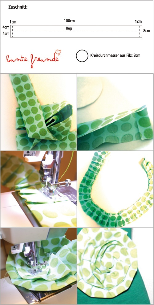 DIY flowers of fabric