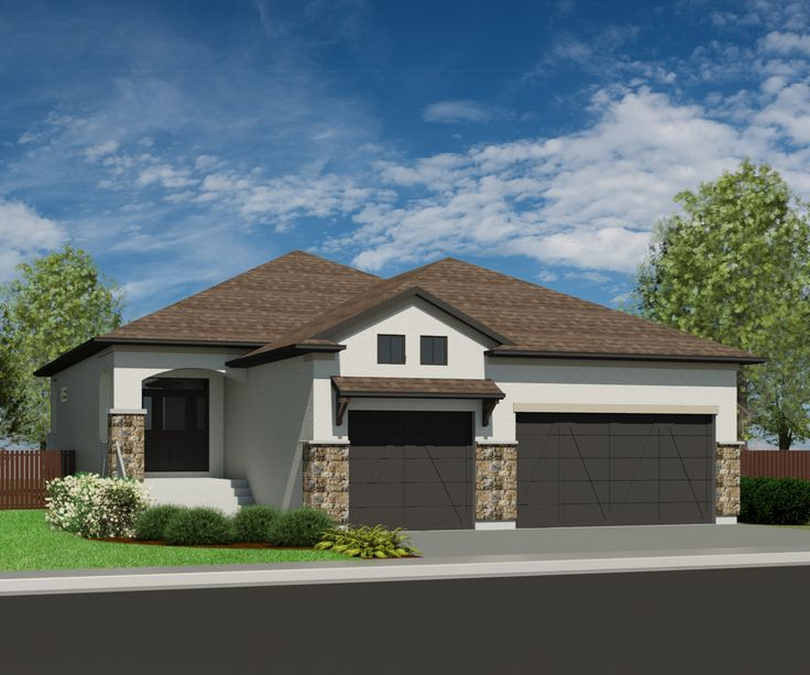 house plans with 3 car garages by fernkerslake see more mission sandpiper 1509 - Small House Plans With 3 Car Garage