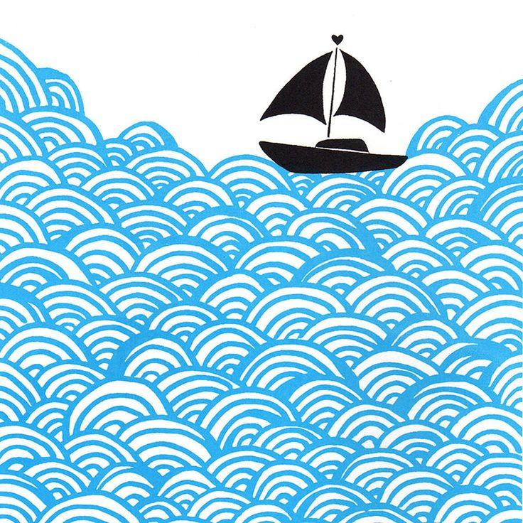 'bigger boat' silkscreen by mengsel