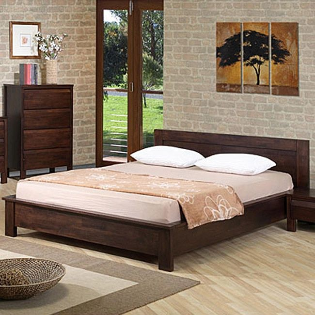 A blend of modern lines and classical sophistication, this platform bed will give your room a fresh update. The bed features a short headboard and a box base with 12 slats that will support your mattr