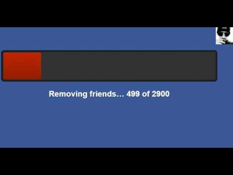 Facebook Friends Removal 2017